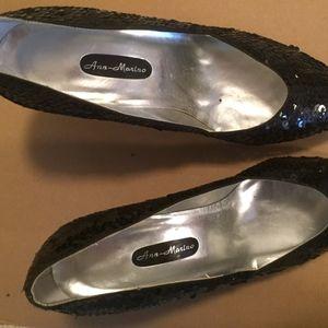 Size 9.5 Black Sequin Shoes
